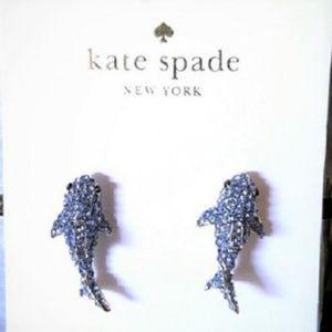 KATE SPADE California Dreaming Shark Stud Earrings